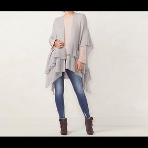 Light blue/grey Lauren Conrad shawl